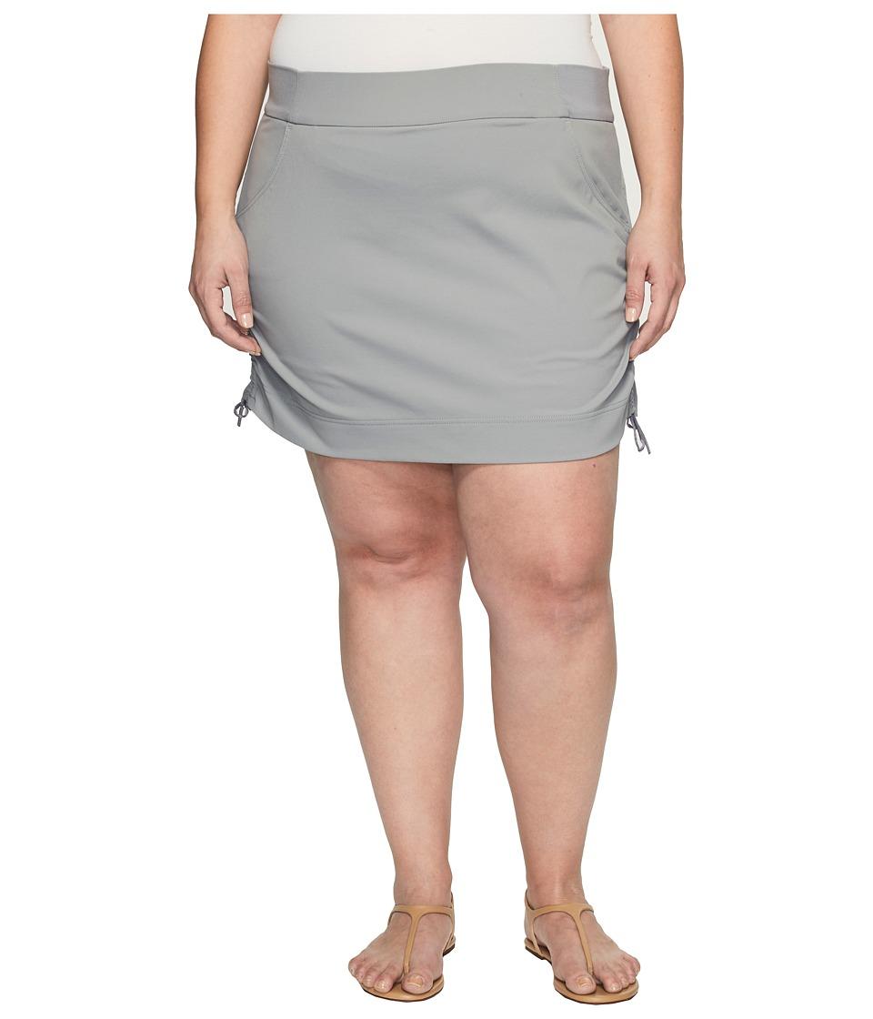 Columbia Plus Size Anytime Casualtm Skort (Light Grey) Women
