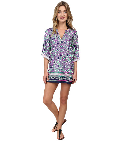 Nanette Lepore - Mallorca Mosaic Tunic Cover-Up (Emerald) Women