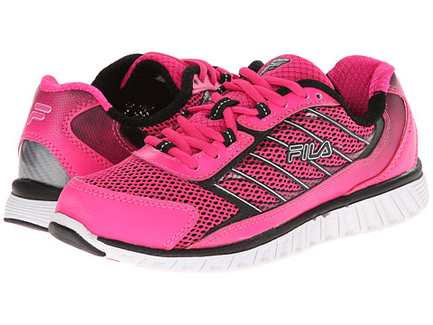 Fila - Hyper Split 4 (Pink Glo/Black/White) Women