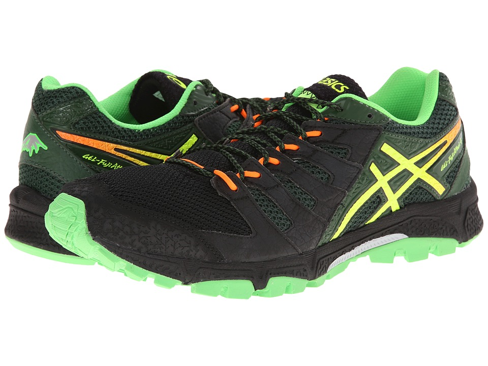 ASICS - Gel-FujiAttack 4 (Onyx/Flash Yellow/Dark Green) Men