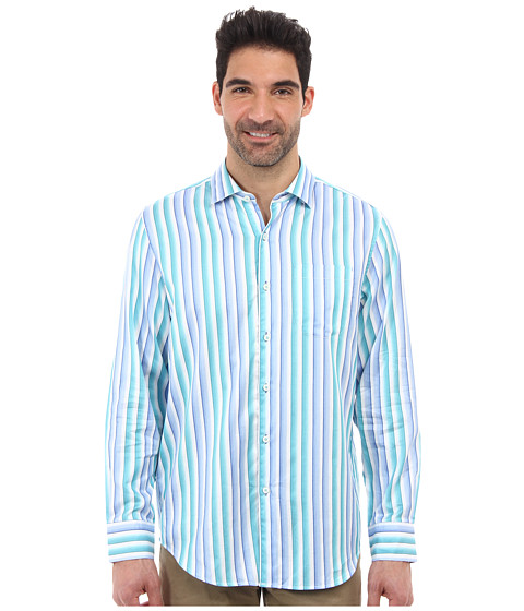 Tommy Bahama - Jet Stream Stripe L/S Shirt (Bali Blue) Men