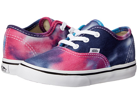 Vans Kids - Authentic (Toddler) ((Tie Dye) Pink/Blue) Girls Shoes
