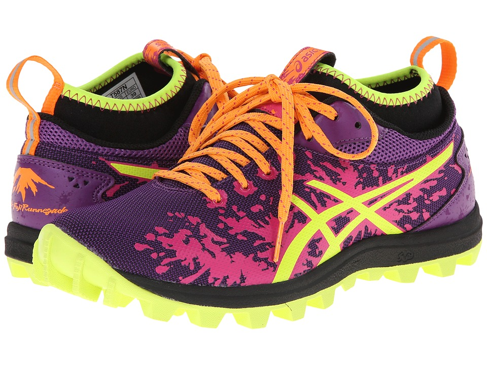 ASICS - Gel-FujiRunnegade (Purple/Flash Yellow/Hot Pink) Women's Running Shoes