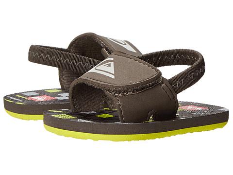 Quiksilver Kids - Molokai Layback (Infant/Toddler) (Black/Green/Grey) Boys Shoes