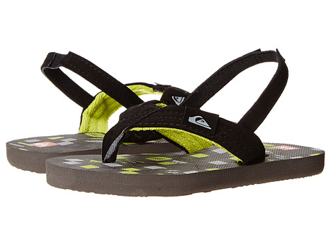 Quiksilver Kids - Molokai Layback (Toddler) (Black/Green/Grey) Boys Shoes