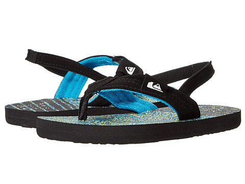 Quiksilver Kids - Molokai Layback (Toddler) (Black/Blue/Green) Boys Shoes
