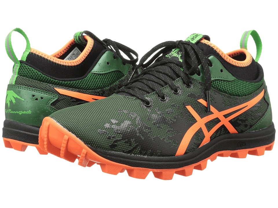 ASICS - Gel-FujiRunnegade (Dark Green/Flash Orange/Black) Men's Running Shoes