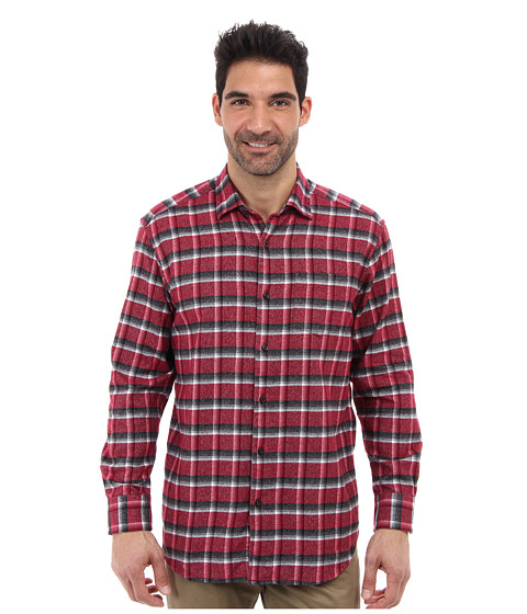 Tommy Bahama - Somerset Plaid L/S Shirt (Dynamite Red) Men's Long Sleeve Button Up