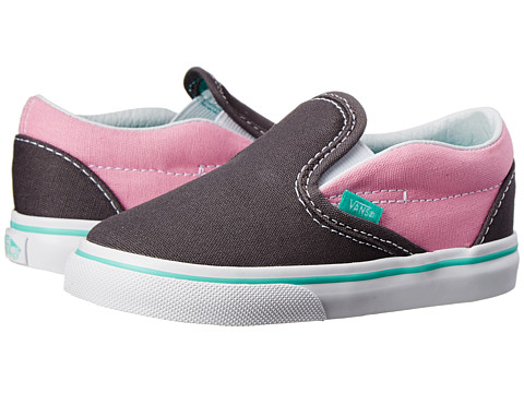 Vans Kids - Classic Slip-On (Toddler) ((Pop) Rabbit/Prism Pink) Girls Shoes