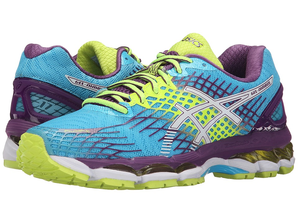 ASICS - GEL-Nimbus 17 (Blue Atoll/White/Purple) Women's Running Shoes