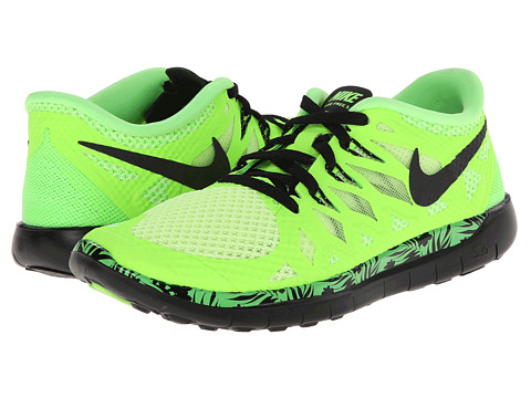 Nike Kids - Free 5.0 Print (Big Kid) (Flash Lime/Liquid Lime/Light Green Spark/Black) Boys Shoes