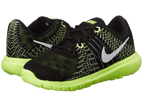 Nike Kids - Flex Fury (Infant/Toddler) (Black/Volt/Flash Lime/White) Boys Shoes
