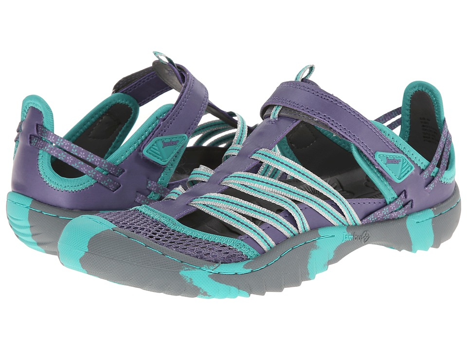 Jambu Kids - Dusk 2 (Toddler/Little Kid/Big Kid) (Dark Lilac/Aqua) Girl