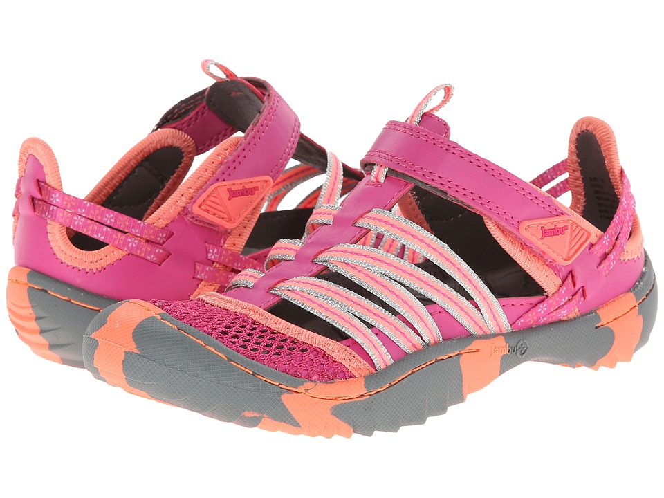 Jambu Kids - Dusk 2 (Toddler/Little Kid/Big Kid) (Fuchsia/Neon Coral) Girl