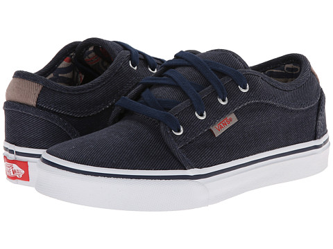 Vans Kids - Chukka Low (Little Kid/Big Kid) ((Totem) Navy/White) Boys Shoes