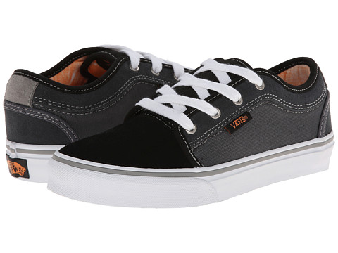 Vans Kids - Chukka Low (Little Kid/Big Kid) (Black/Charcoal/Orange) Boys Shoes