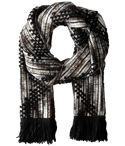 Missoni - Checkered Zigzag Scarf (Black) Scarves