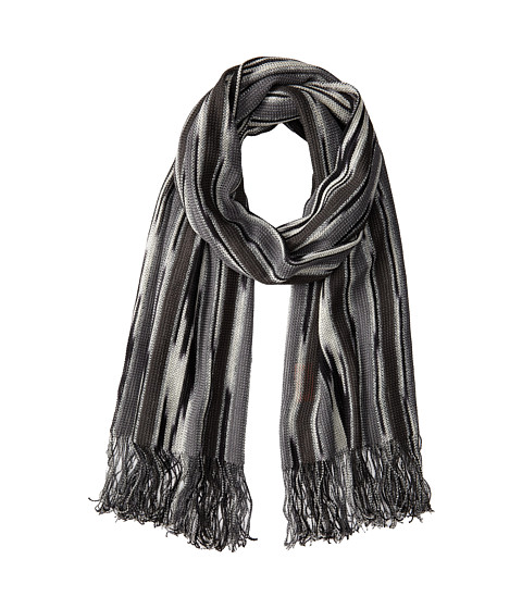 Missoni - Streaked Stripe Scarf (Grey) Scarves