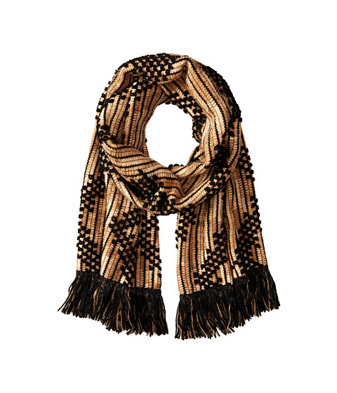 Missoni - Checkered Zigzag Scarf (Camel) Scarves
