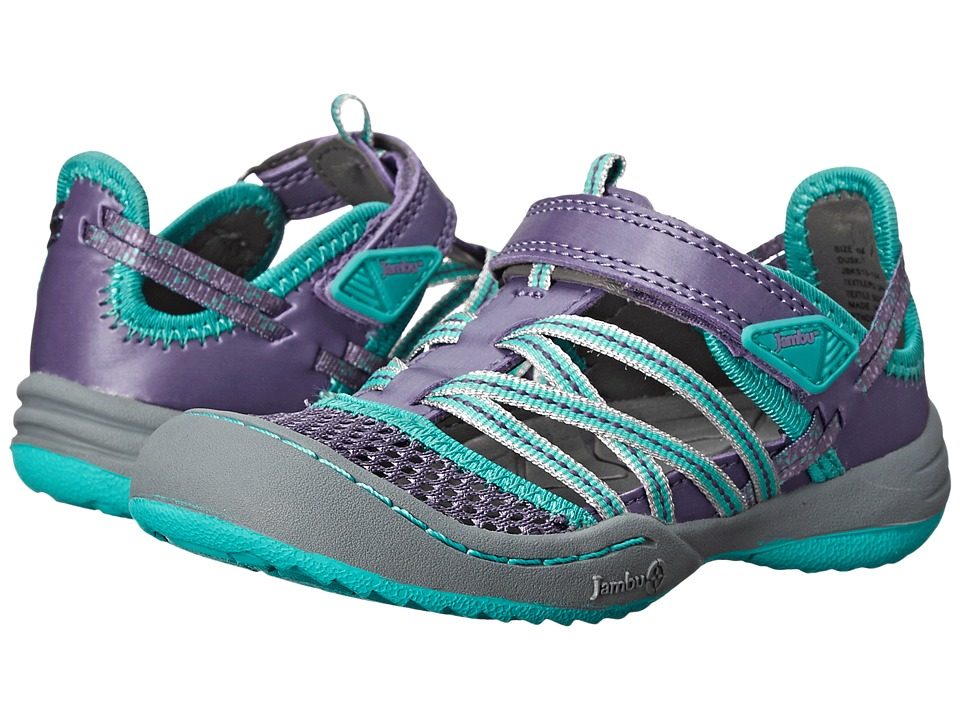 Jambu Kids - Dusk (Toddler) (Dark Lilac/Aqua) Girl's Shoes
