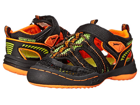 Jambu Kids - Piranha (Toddler) (Black/Orange) Boy's Shoes