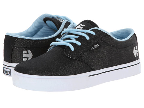 etnies Kids - Jameson 2 Eco (Toddler/Little Kid/Big Kid) (Black/Silver) Girls Shoes