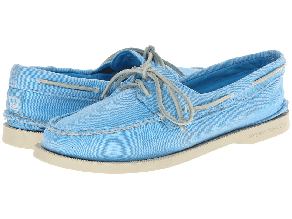 Sperry Top-Sider - A/O 2-Eye Washed (Turquoise) Women