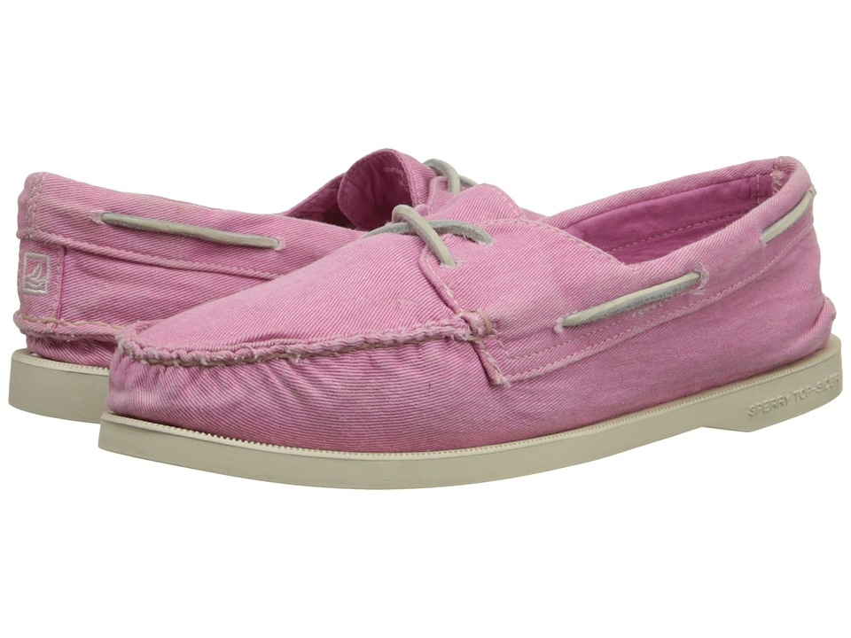 Sperry Top-Sider - A/O 2-Eye Washed (Pink) Women's Lace up casual Shoes