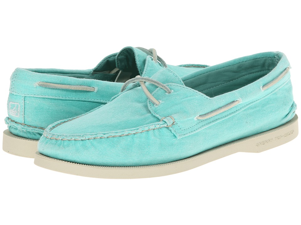Sperry Top-Sider - A/O 2-Eye Washed (Mint) Women's Lace up casual Shoes
