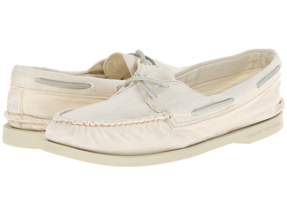 Sperry Top-Sider - A/O 2-Eye Washed (Ivory) Women's Lace up casual Shoes