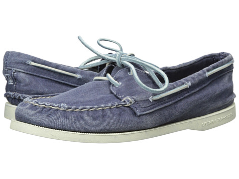 Sperry Top-Sider - A/O 2-Eye Washed (Navy) Women's Lace up casual Shoes