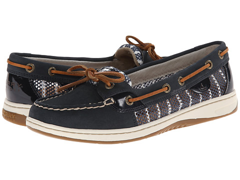 Sperry Top-Sider - Angelfish 2-Eye Breton Stripe Mesh (Navy/White) Women
