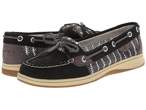 Sperry Top-Sider - Angelfish 2-Eye Breton Stripe Mesh (Black/Graphite) Women's Lace up casual Shoes