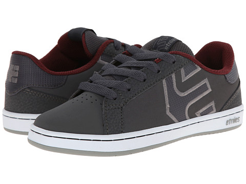 etnies Kids - Fader LS (Toddler/Little Kid/Big Kid) (Dark Grey/Red/White) Boys Shoes