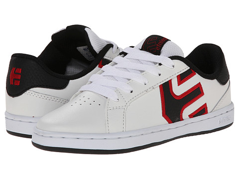 etnies Kids - Fader LS (Toddler/Little Kid/Big Kid) (White/Red/Black) Boys Shoes