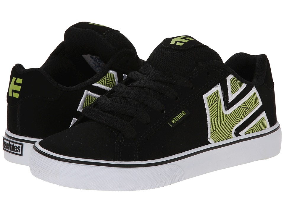 etnies Kids - Fader Vulc (Toddler/Little Kid/Big Kid) (Black/White) Boys Shoes