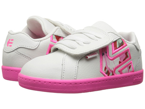 etnies Kids - Fader LS (Toddler) (White/Pink/Pink) Girls Shoes