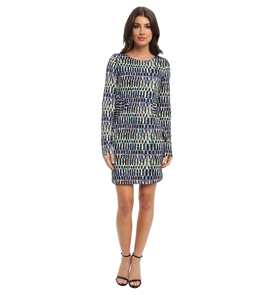 Tbags Los Angeles Long Sleeve Body Con Dress (ZI3 Print) Women