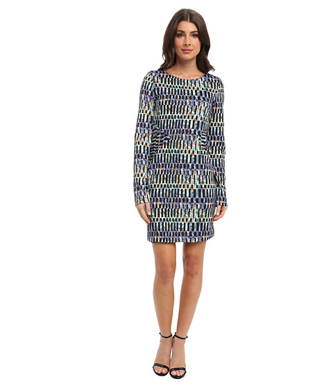Tbags Los Angeles - Long Sleeve Body Con Dress (ZI3 Print) Women
