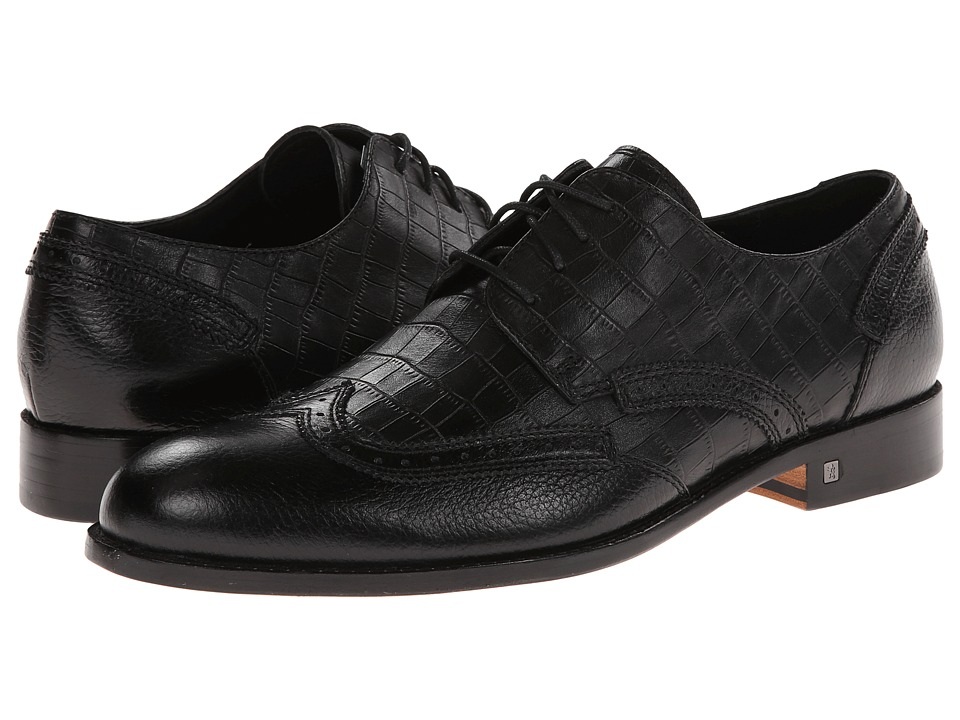 BUGATCHI - Chopin (Nero) Men's Plain Toe Shoes
