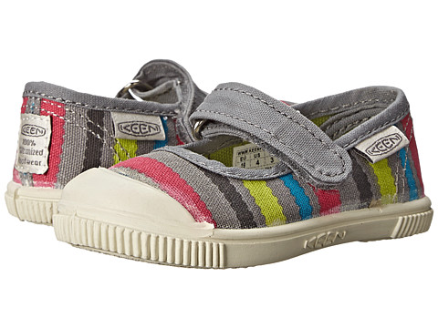Keen Kids - Maderas MJ (Toddler) (Neutral Gray/Stripes) Girls Shoes