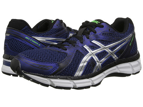 ASICS - GEL-Excite 2 (Navy/Lightning/ Green) Men's Running Shoes