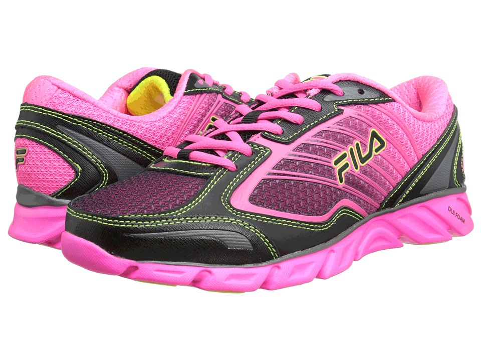Fila - Fresh 3 (Black/Knockout Pink/Safety Yellow) Women's Running Shoes