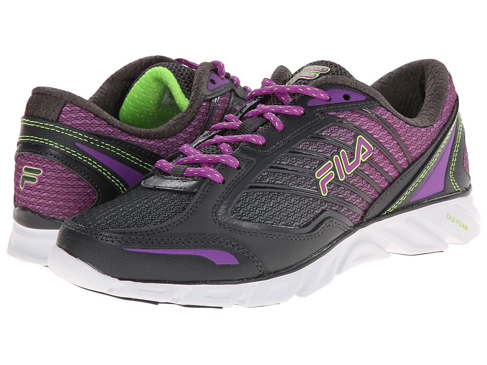 Fila - Fresh 3 (Dark Shadow/Purple Cactus Flower/Green Gecko) Women's Running Shoes