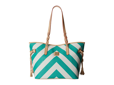 Dooney & Bourke - Large Chevron Bailey Bag (Sea Foam w/ Natural Trim) Tote Handbags