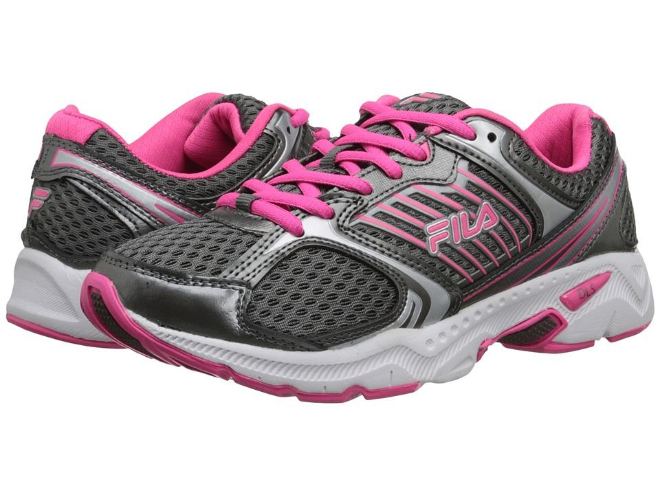 Fila - Interstellar 2 (Dark Silver/White/Knockout Pink) Women's Running Shoes