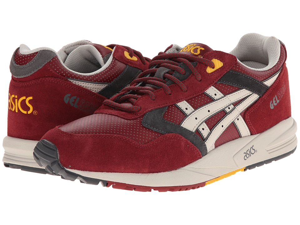 ASICS Tiger - Gel-Saga (Burgundy/Off-White) Men's Shoes