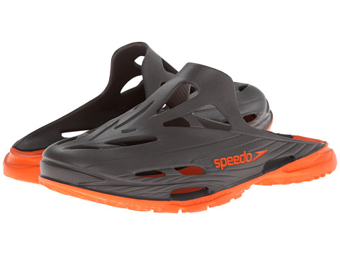Speedo Kids - Blaze Clog (Little Kid/Big Kid) (Darkgull Grey/Flame) Boys Shoes