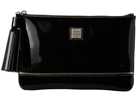 Dooney & Bourke - Market Highland Holiday Patent Tassel Cosmetic Pouch (Black w/ Black Trim) Cosmetic Case
