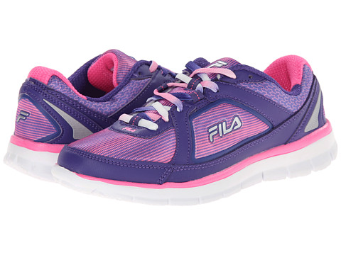 Fila - Finest Hour Neoprene (Deep Blue/Sugar Plum/Metallic Silver) Women's Running Shoes